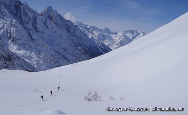 ски тур в Домбае, Чучхурское ущелье