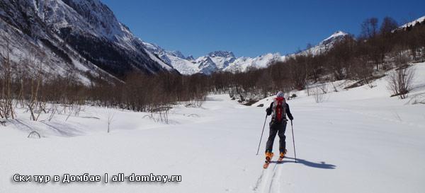 ски тур в Домбае