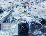 Домбай: новая схема горнолыжных трасс - фото 1 - увеличить