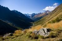 Вид с точки выше Чучхурского водопада (осень)