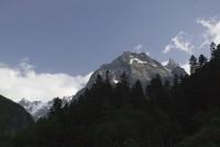 Вид на вершину Софруджу из начала ущелья Аманауз