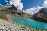 Клухорское озеро осенью - фото 1