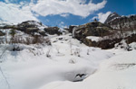 Домбай в конце апреля 2019-го: пешие прогулки на снегоступах - Алибек, Домбай-Ульген, Бадукские озера - фото 1 - увеличить