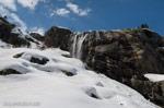 Домбай, прогулка на снегоступах к водопаду Алибек 25 апреля, полный отчёт - фото 2